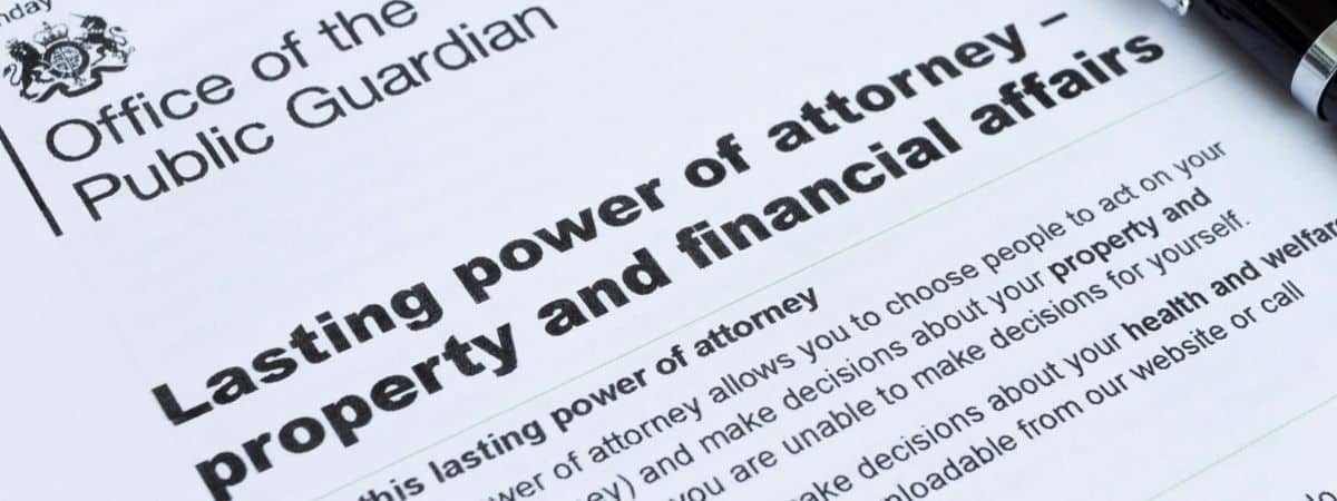 Lasting power of attorney property and financial affairs